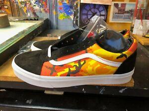 Vans Old Skool Pop Camo Black Spicy Orange Canvas Size US 11 Men New Rare
