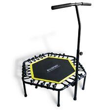 Round Mini Trampoline Exercise Bungee Rebounder Adjustable Handle Bar UK