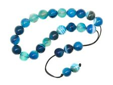 003BA - Greek Style Loose Strung Prayer Beads 10mm Blue Agate Gemstone Beads