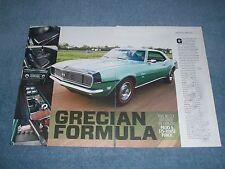 "1968 Camaro RS/SS 396 L78 375hp Article ""Grecian Formula"""