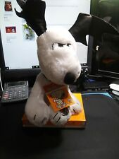 New Halloween PEANUTS Animated Musical SNOOPY Plush-Bat Ears PLAYS Linus & Lucy
