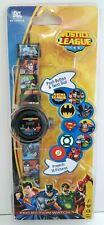 New Accutime Dc Comics Justice League Kid Projection Watch Flash Batman Superman