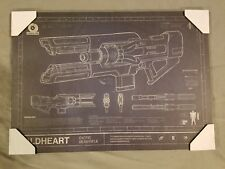 Destiny 2 Coldheart Exotic Beam Rifle Mounted Art Print
