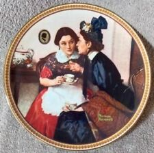 Rockwell Collectors Plate - Gossiping In the Alcove - Lot Plate