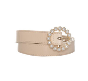 Review Cosmo Pearl Belt Nude/Beige Sz M (Medium) Brand New With Tags (BNWT)