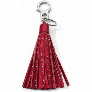 NWT Brighton Your Bag ROCK STAR Lipstick Red Handbag Tassel Fob MSRP $55