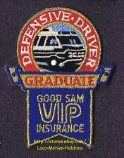 LMH Patch  GOOD SAM CLUB  Graduate VIP INSURANCE  Defensive Driver Sams  AWARD