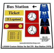 Precut Custom Replacement Stickers voor Lego Set 379 - Bus Station (1979)