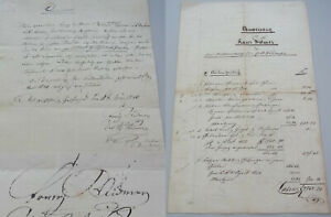 2 Documents Gelfingen 1846-55 / Franz Widmer/Erb-Vertrag & Pull-Out Book