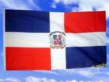 Fahne Flaggen DOMINIKANISCHE REPUBLIK MIT WAPPEN