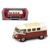 1962 Volkswagen Microbus Brown 1/18 Diecast Car Model by Road Signature 92328...