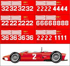 1:24 Decals for Ferrari DINO 156 1961 - SEE TEXT 6 versions
