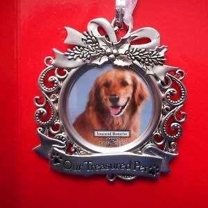 """NEW Pet Memorial Photo Ornament from Ganz, """"Our Treasured Pet"""""""