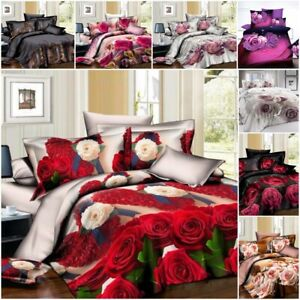 3D Print Duvet Cover sets Pillow Cases & Printed Fitted Sheet Single Double King