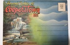Souvenir Folder of Cooperstown NY Photographs ~ 1939 Curt Teich & Co