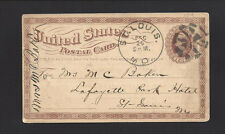 """ST.LOUIS, MO, 1875 GPC. """"AMERICAN EXPRESS COMPANY'S OFFICE"""", dated Dec 25, 1875"""