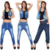 SALE Damenjeans Jeans Hose Boyfriend Aladin Jeanshose Baggy Hose Baggyhose J15