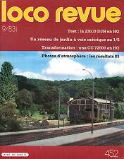 LOCO REVUE 452 DE 1983. TRANSFORMATION CC 72000 JOUEF