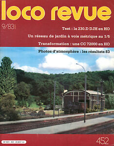 Loco Review 452 Of 1983. Transformation Cc 72000 Jouef