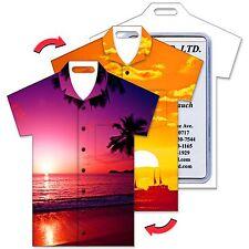 Lenticular Travel Luggage Bag Tag T-Shirt Shape, Sunset, #LTST-359#