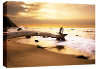Extra Large Sunset Sea Canvas Beach Wall Art Picture Artwork 4ft wide 119 x 82cm