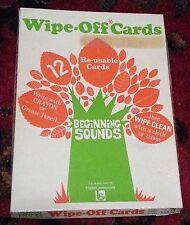 Vintage Wipe Off Cards Beginning Sounds (12) Trend Enterprises 1972 ~ Learning