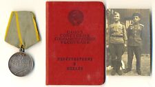 SOVIET order   MEDAL FOR BATTLE MERIT  with Document and photo  (1210)
