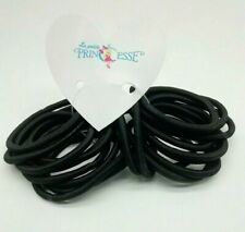 20 x BLACK Thick Elastics Hair Bands Snag Free Endless Hair Bobbles Non Metal