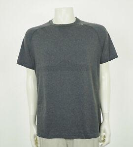 Lululemon Gray Blend Training Gym Workout Tech Shirt Mens Sz XL