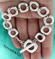 Tiffany & Co Plata de Ley Cojín Toggle 19.1cm Pulsera