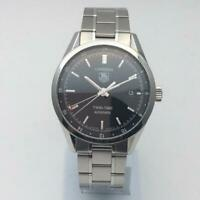 TAG HEUER Carrera Calibre 7 Twin-Time WV2115-0 Automatic SS Men's Watch Used
