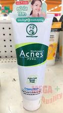 Mentholatum Acne Medicated Creamy Wash Cleanser Foam AHA Vitamin C E Japan 100g