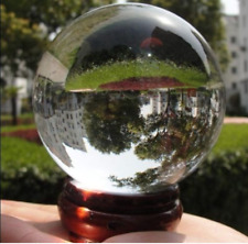 Clear crystal ball magic therapy meditation spherical photography 40mm + stands