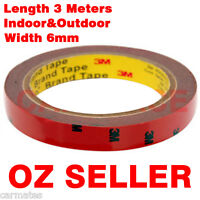 3M Genuine Double Face Sided Tape (Automotive Grade) 6mm 3 Meters for Visor OZ