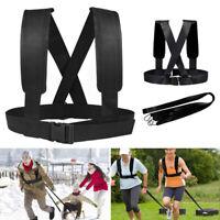 Adjustable Sled Harness Tire Shoulder Pulling Fitness Resistance Training Workou
