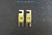 (2) 60 AMP MINI ANL FUSES GOLD PLATED INLINE AFC AFS BLADE AUTO HOLDER MANL60