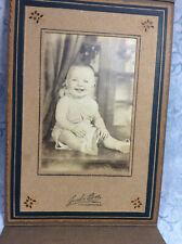 Adorable Baby Cabinet Photograph - Jenks Bros; Freeport Illinois