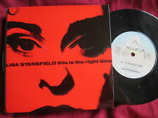 Lisa Stansfield This Is The Right Time 112512 Stickered UK Vinyl 7inch Single 45