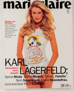 Claudia Schiffer & Karl Lagerfeld MARIE CLAIRE GERMANY MAGAZINE Deutsch German