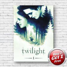 Twilight 2008 Film Movie Poster A4, A3, A3+ Borderless Art Print V3