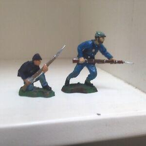 2 American Civil War. Union infantrymen. Marksmen UK 54mm plastic soldier