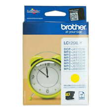 GENUINE AUTHENTIC BROTHER LC125XL YELLOW INK CARTRIDGE LC125XLY