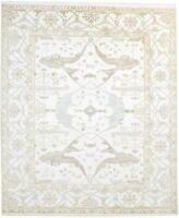 "Wool Ivory Rug 8'X10' Traditional Hand Knotted Oushak Oriental 8'3""X9'11"" Carpet"
