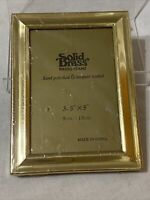 """Vintage Solid Brass Photo Frame Hand Polished & Lacquer Coated 3.5"""" x 5"""""""