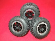 Traxxas Slash COURTNEY FORCE EDITION 2WD SPEC Tires BLACK + SILVER Wheels NEW