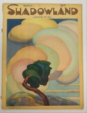 Shadowland Magazine, March 1923, Cover by A.M. Hoptmuller