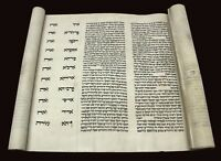 Complete Esther Scroll Megillah Bible Handwritten On Parchment