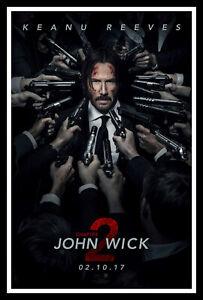 John Wick Chapter 2 Movie Poster Print & Unframed Canvas Prints