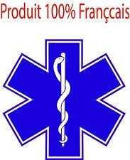lot de 10 Stickers Adhésif Autocollants Ambulancier pour véhicule 20cm de diam