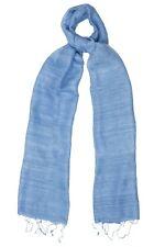 Baby Blue Raw Silk Scarf - Fair Trade BNWT